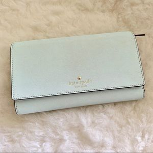 Kate spade mint large wallet